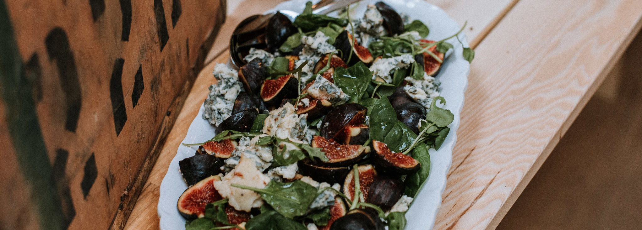 Fig salad, come and learn at Guardswell Farm in the Cart Shed Kitchen at Guardswell Farm