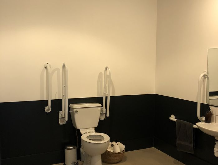 Larger accessible loo