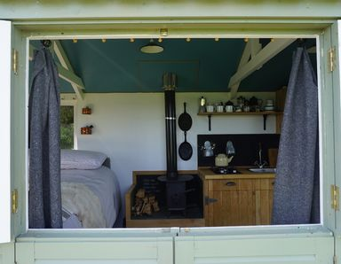 The inside of The Kailyard glamping hut